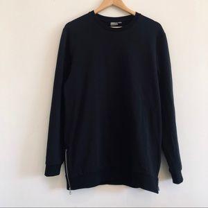 Asos Side Zip Sweatshirt